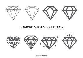 collezione di forme di diamante vettoriale