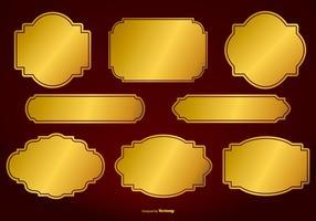 Collezione di etichette vettoriali oro