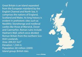 Mappa della Gran Bretagna vettore