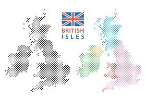 Mappa delle Isole Britanniche vettore