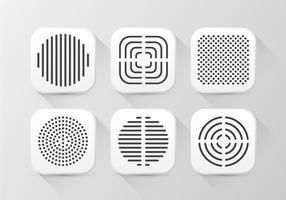 Altoparlante Grill Pattern Buttom Icon vettore