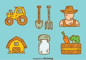 Vettore di elemento contadino disegnato a mano
