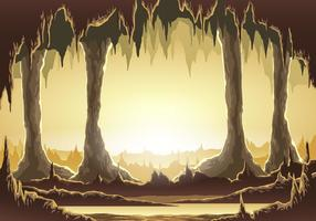 Illustrazione vettoriale all'interno della caverna