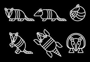 Icone di vettore di armadillo