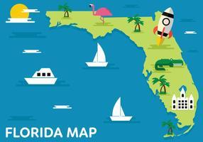 Illustrazione di vettore della mappa di Florida