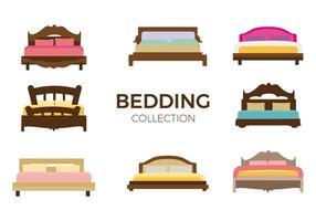 Vettore del letto di mobili