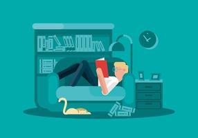 Illustrazione di topo di biblioteca vettore