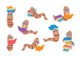 Insieme del fumetto di Bookworm