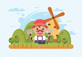 Vettore contadino libero