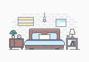 Illustrazione semplice camera da letto gratuita