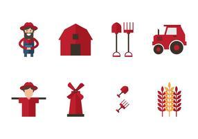 Set di icone contadine