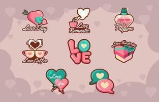 amo il giorno di San Valentino con il cuore vettore