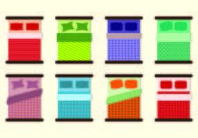 Set di icone di biancheria da letto vettore