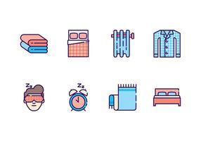 Icone della camera da letto gratis vettore