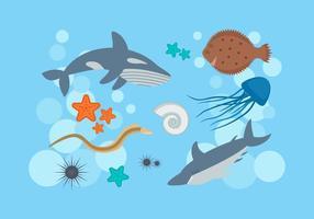 Vettori eccezionali di pesci oceanici