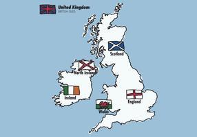 Bandiere delle Isole Britanniche vettore