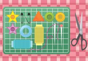 Pacchetto di articoli da cucire vettore