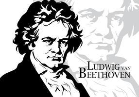 Ritratto di vettore di Beethoven