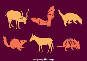 Vettore animale della siluetta del Sudamerica