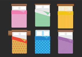 Set vettoriale di biancheria da letto