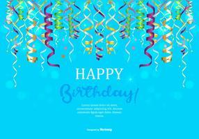 Illustrazione di buon compleanno vettore