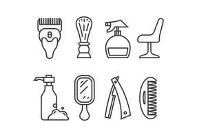 Icone vettoriali di rasatura