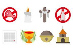 Lent Icons Vector gratuito