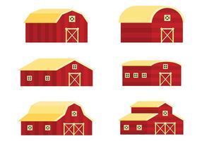 Icone di vettore del granaio rosso