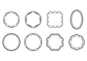 Confini di Corona di spine vettore