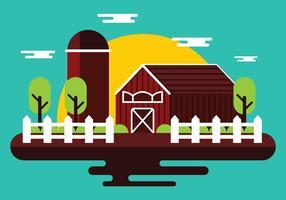 Vettore fattoria di campagna