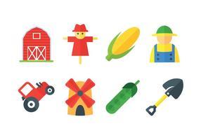 Icone di vettore di fattoria fresca