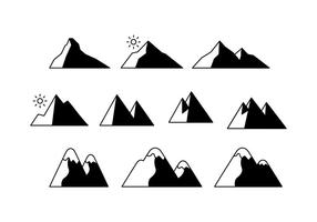 Montagne vettoriali gratis icona