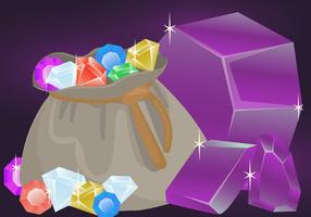 Vettori di pietra di cristallo di quarzo
