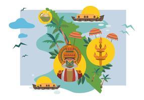 Illustrazione vettoriale di Kerala gratis