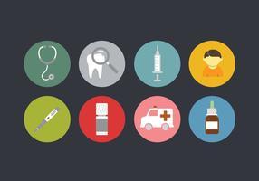 Set di icone di pediatra
