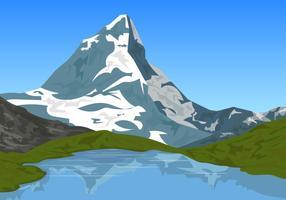 Alpi Matterhorn Svizzera Montagne vettore