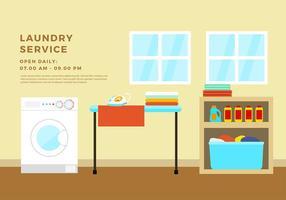 Vettore gratuito della stanza della lavanderia
