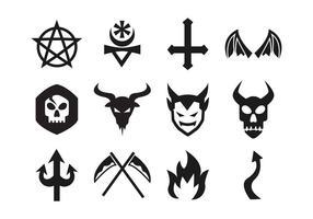 Lucifero icone vettoriali gratis