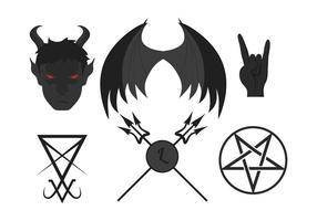 Set vettoriale Lucifero