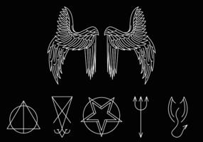 vettore simbolo di lucifero