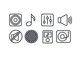 Insieme di vettore dell'icona di musica