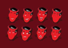 Emoticon Face di Lucifero vettore