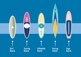 Vettore del tipo di tavola da paddle