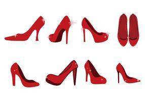 Vettore libero delle icone delle pantofole di rubino
