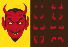 Lucifero e diversi corni del diavolo