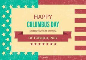 Retro stile Columbus Day Illustration vettore