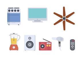 Vettori di elettrodomestici a casa piatta