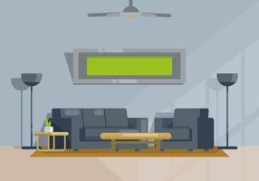 Illustrazione del soggiorno vettore