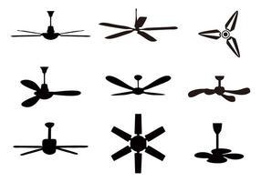 Vettore libero delle icone del ventilatore da soffitto
