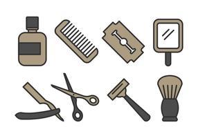 pacchetto di icone del negozio di barbiere
